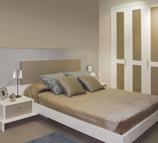 Dormitorio blanco en melamina