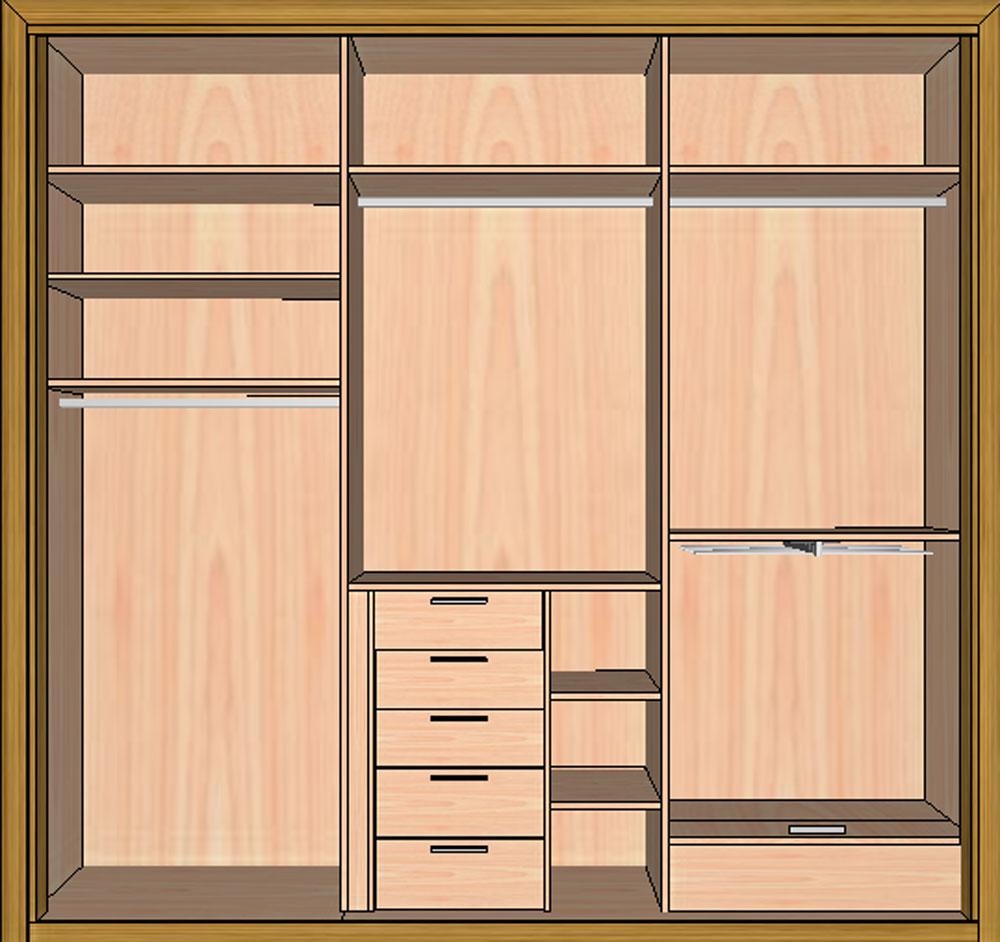Outlet de armario deslizante en chapa de madera teka for Armario madera natural
