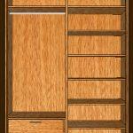 Interior de armario con zapatero, baldas y colgar