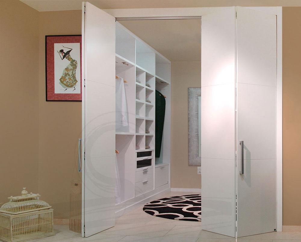 Puertas de armario en lacado blanco