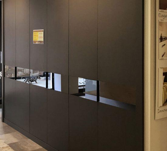 armario antracita 6 puertas