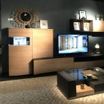 mueble salon negro roble